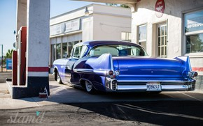 Картинка Cadillac, Blue, Coupe, Custom, Deville