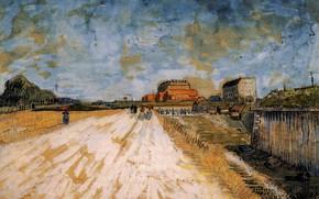 Картинка Винсент ван Гог, Road Running, Beside the Paris, Ramparts