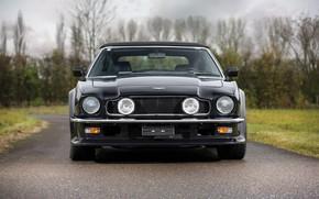 Картинка Фары, Black, Вид спереди, Aston Martin V8 Vantage Volante
