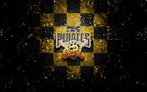 Картинка wallpaper, sport, logo, baseball, glitter, checkered, MLB, Pittsburgh Pirates