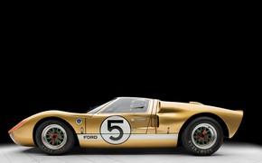 Картинка Ford, Профиль, 1966, 24 Hours of Le Mans, 24 часа Ле-Мана, GT40, Спорткар, Sports car, …