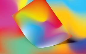 Картинка лист, фон, краски, объем