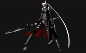 Картинка оружие, игра, меч, аниме, арт, Persona 4, персона
