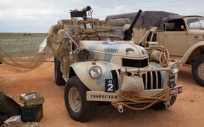 Обои Chevrolet, автомобиль, British, club, military, боке, historical, wallpaper., частная коллекция ретро, пулеметы два 1-Lewis 1-Vickers, ...