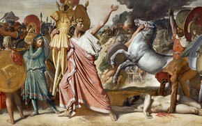 Картинка 1812, Жан Огюст Доминик Энгр, Ромул - победитель Акрона