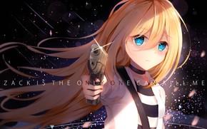 Картинка взгляд, девушка, пстолет, Ангел кровопролития, Satsuriku no Tenshi