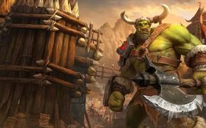 Картинка топор, орк, Warcraft III, Warcraft III: Reforged