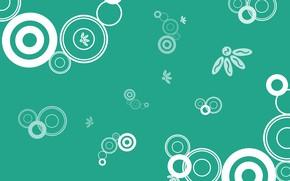 Картинка круги, цветы, фон, текстура