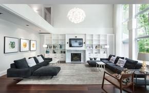 Картинка комната, вилла, интерьер, гостиная