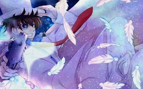 Картинка пистолет, аниме, арт, парень, Detective Conan, Magic Kaito