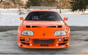 Картинка Orange, Toyota, Car, Supra