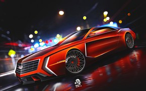 Картинка Eldorado, Cadillac, Авто, Машина, Арт, Art, Concept Art, Vehicles, Cadillac Eldorado, Transport, Transport & Vehicles, …