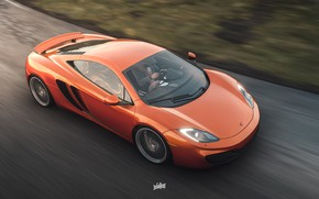 Картинка McLaren, Microsoft, MP4-12C, game art, Forza Horizon 4, by Wallpy