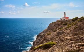 Картинка море, скалы, маяк