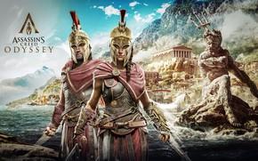Обои game, Kassandra, Ubisoft, Assassin's Creed, Odyssey, Assassin's Creed Odyssey, Alexios
