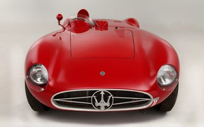 Картинка Maserati, Фары, Classic, Classic car, 1955, Значок, Sports car, Радиаторная Решетка, Maserati 300S