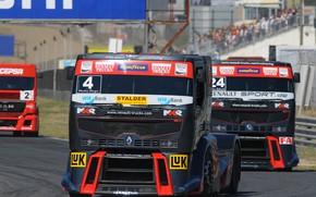 Картинка трасса, грузовик, Renault, гоночный, Renault Trucks, Premium Course MKR