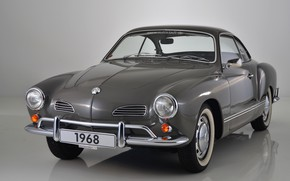 Обои серый, фон, Volkswagen, 1968, Karmann Ghia