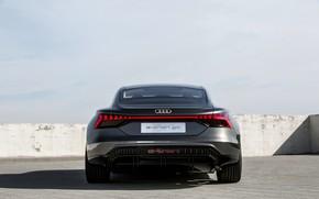 Картинка Audi, купе, вид сзади, 2018, e-tron GT Concept, четырёхдверное