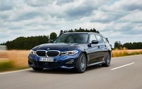 Картинка облака, BMW, 3-series, универсал, тёмно-синий, 3er, 2020, G21, 330d xDrive Touring