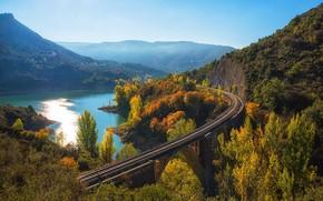 Картинка пейзаж, мост, панорама
