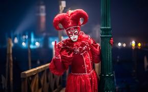 Картинка маска, Италия, костюм, Венеция, карнавал, Арлекин