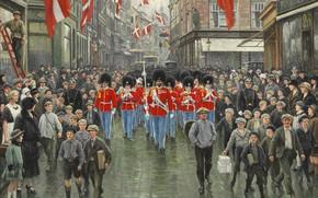 Картинка датский живописец, 1925, Danish painter, Поль Густав Фишер, Paul Gustav Fischer, Kongens Fødselsdag, День рождения …