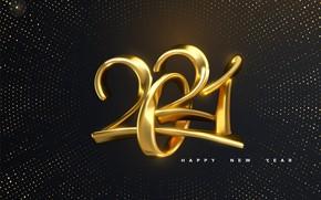 Картинка фон, праздник, новый год, цифры, 2021