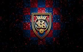 Картинка wallpaper, sport, logo, football, glitter, checkered, MLS, Real Salt Lake
