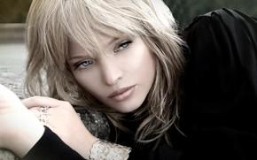 Картинка взгляд, поза, макияж, актриса, фотосессия, hair, look, pose, actress, makeup, photo shoot, Мелани Тьерри, Mélanie …
