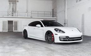 Картинка Porsche, Panamera, White, VAG, Sight