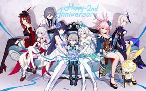 Картинка девушки, игра, группа, аниме, персонажи, Honkai Impact 3rd