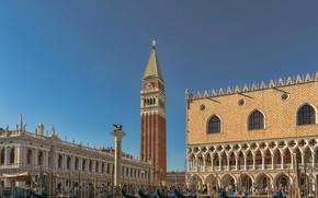 Картинка Италия, Венеция, Дворец Дожей, компанилла
