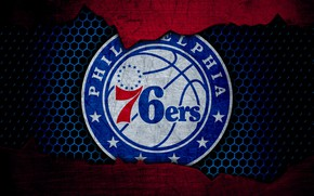 Картинка wallpaper, sport, logo, basketball, NBA, Philadelphia 76ers