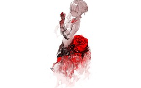 Картинка девушка, роза, Sinoalice