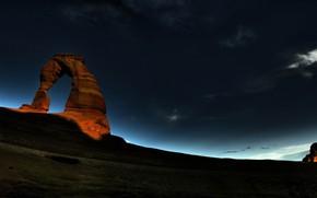 Картинка небо, горы, ночь, пустыня