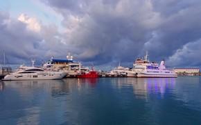 Картинка море, корабли, яхты, Сочи