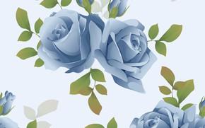 Картинка фон, розы, голубые
