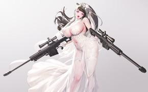 Картинка девушка, секси, оружие
