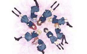 Картинка девушки, School Uniform, Miyako Kono, 22/7, Sakura Fujima, Akane Maruyama, Jun Toda, Reika Sato, Ayaka …