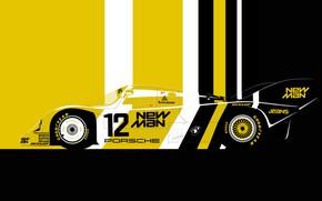 Картинка sport car, lemans, 1983 Porsche 956