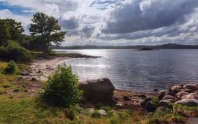 Картинка побережье, Норвегия, Norway, Som, Hasla