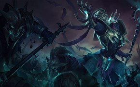 Картинка доспехи, воины, рыцари, League of Legends, Лига Легенд, Azir