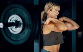 Картинка muscle, мышцы, штанга, тренировка, атлет, воркаут, workout, training, abs, crossfit, CrossFit, Кроссфит, Брук Энс, Brooke …