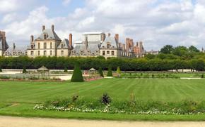 Картинка Франция, панорама, Дворец Фонтенбло