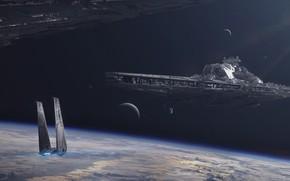 Картинка star wars, звёздные войны, космический корабль, звездолёт, battlecruiser, JULIAN CALLE, Bellator-class dreadnought