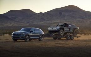 Картинка Volkswagen, прицеп, 4x4, 2019, Atlas Cross Sport, Atlas Cross Sport R Concept