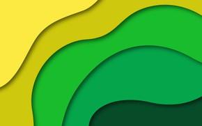 Обои линии, желтый, абстракция, зеленый, фон, геометрия