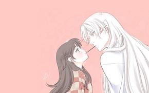 Картинка девочка, Рин, Inuyasha, Инуяша, Сешоумару, сладкая палочка