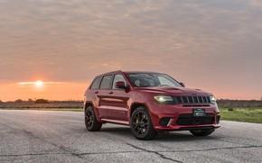 Картинка закат, вечер, 2018, Hennessey, Jeep, Grand Cherokee, Trackhawk, HPE1000